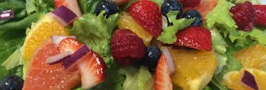 fruit filled green salad with citrus dressing jaquo lifestyle