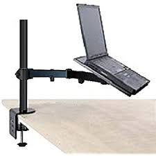 swivel arm laptop table amazon com laptop holder leshp adjustable desk holder bracket