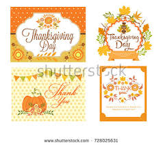 thanksgiving labels happy thanksgiving day stock vector 325410971
