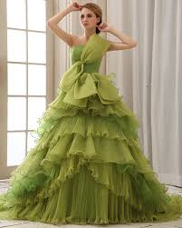 green wedding dresses buy cheap organza layered green 2013 princess gown wedding