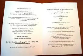eiserne hochzeit einladung einladung zur hochzeitsjubiläumsveranstaltung im wiener rathaus