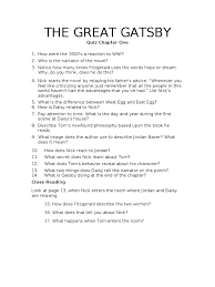 gatsby s house description the great gatsby chapter quizzes docshare tips