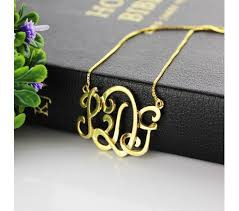 Gold Plated Monogram Necklace 121 Best Name Necklace Images On Pinterest Name Necklace