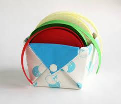 Origami Desk Organizer Fabric Storage Organizer Basket Origami Box Organizer Desk