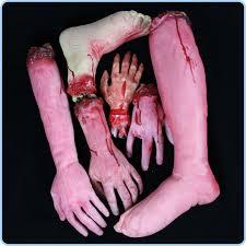 Haunted House Decorations New 1sets Halloween Props Jokes Cut Hand Leg Figure Haunted House