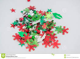 Red And Green Christmas Craft Embellishments Royalty Free Stock