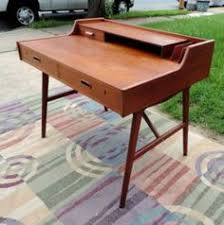 Retro Modern Desk Vintage Ground Danish Modern Mid Century Secretary Desk Decor
