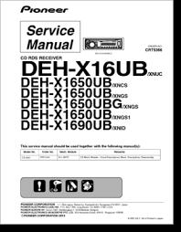 diagrama manual pioneer deh x16ub deh x1650ub deh x1690ub