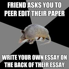 Edit Foto Meme - friend asks you to peer edit their paper write your own essay on the