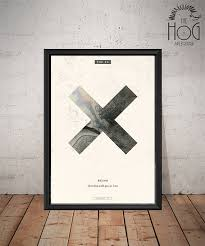 the xx poster unique music poster romy madley croft jamie