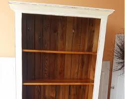 Pine Bookcase With Doors Barnwood Bookcase Etsy