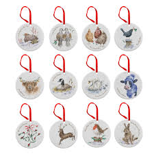 royal worcester wrendale 12 days of decorations royal
