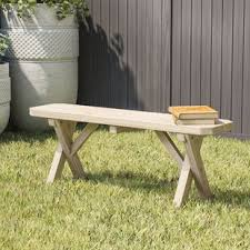 unfinished wood benches you u0027ll love wayfair