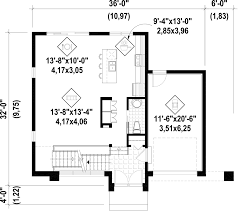 Contemporary Plan Contemporary Style House Plan 3 Beds 1 00 Baths 1736 Sq Ft Plan