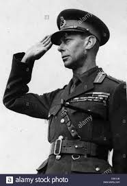 king george vi in army uniform during ww2 stock photo royalty