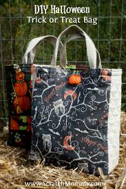 diy halloween trick or treat bag sewing project pronounce