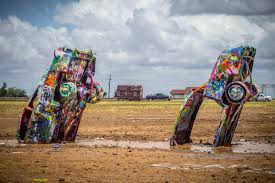 cadillac ranch carolina this quit their and built a home what they did