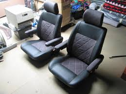 Leather Captains Chairs Volkswagen T4 Captains Chairs Re Trimmed Leather And Swede Vw