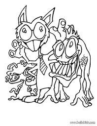 Monster Halloween by Monsters With Ties Coloring Pages Hellokids Com