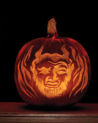 7 legendary halloween characters and the etched pumpkins to match