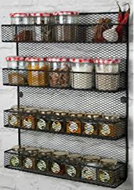 Spice Rack For Wall Mounting Amazon Com Spice Rack Organizer Country Rustic Wire Style