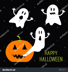 halloween background images for flyers with kids pumpkin candles flying ghost set halloween stock vector 325058231