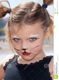 child with kitty cat make up stock photography image 21826532