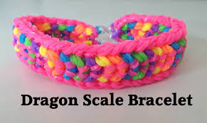 bracelet rubber bands youtube images Double capped dragon scale rainbow loom bracelet tutorial l jpg