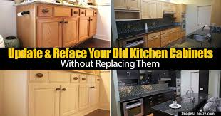 how to update kitchen cabinets update reface your old kitchen cabinets without replacing them