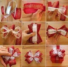 christmas gift bow how to make a ribbon bow for gift wrapping crafty
