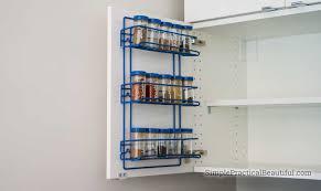 kitchen cupboard door storage ikea how to add a spice rack to an ikea cabinet door simple