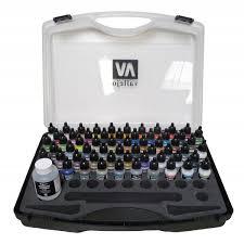 game air paint set basic colors box set 47 colours with carry case