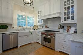 Range Hood Backsplash by Sink Next To Range Kitchen Traditional With Glass Front Cabinets