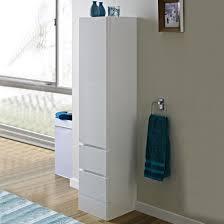 Bathroom Furniture White Gloss Freestanding Bathroom Cabinet White Gloss Home Decor