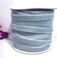 ribbon trim dusty blue grayish blue velvet ribbon trim craft 3 8 inch 1cm