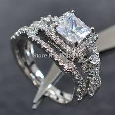 Womens Wedding Rings by Aliexpress Com Buy Sz 5 10 Princess Cut White Gold Filled White