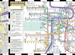 Brown Line Chicago Map by Streetwise Prague Map Laminated City Center Street Map Of Prague