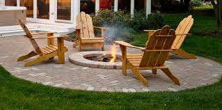Patio Designs With Pavers by Exterior Appealing Patio Design With Exciting Lowes Fire Pit Kit