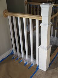 Restaining Banister Remodelaholic Stair Banister Renovation Using Existing Newel