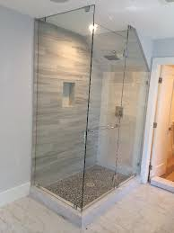 Angled Glass Shower Doors Glass Enclosure With Angled Ceiling Patriot Glass And Mirror