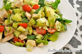 Best Salad Recipes Chopped Chicken Bacon And Avocado Salad Real Healthy Recipes