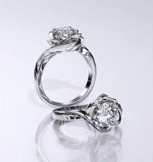 Wedding Rings White Gold by Luvia White Gold Flower Engagement Ring Rings Pinterest