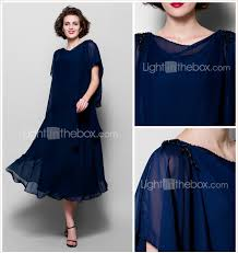 a line cowl neck tea length chiffon mother of the bride dress with