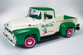 Old Ford Drag Truck - 1956 ford f 100 pickup truck mountain dew round2