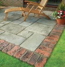 paver patio edging options brett u0027rochester brick u0027 soldier brick edging paving superstore