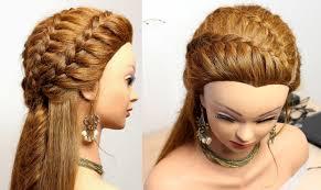 hair tutorials for medium hair hairstyle for everyday with braids medium long hair tutorial