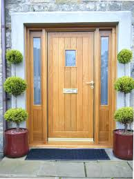 Exterior Doors Wooden Exterior Wooden Door A Comely Potted Topiary Mixed With Large
