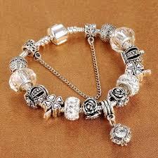 european bracelet images European style vintage silver plated crystal bracelet shopenpick jpg