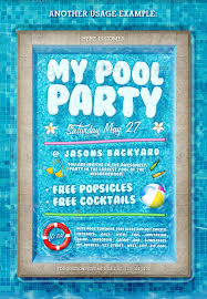 pool party invitations pool party invitation template 37 free psd format