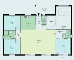 plan de maison plein pied gratuit 3 chambres plan maison plain pied lovely plan maison 3 chambres